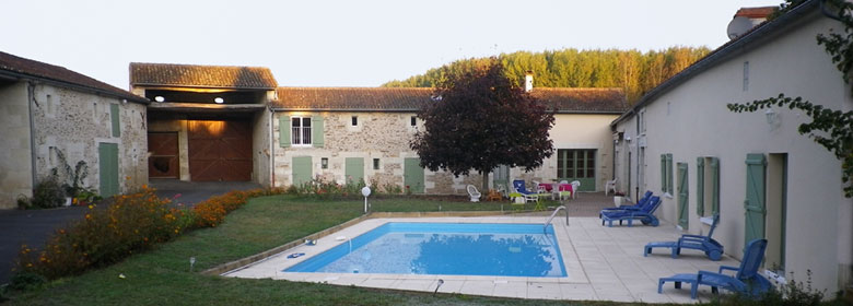 The courtyard and the swimming-pool